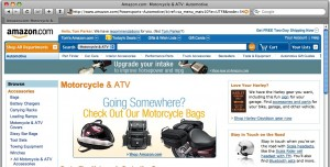 Amazon Motorcycle & ATV Section